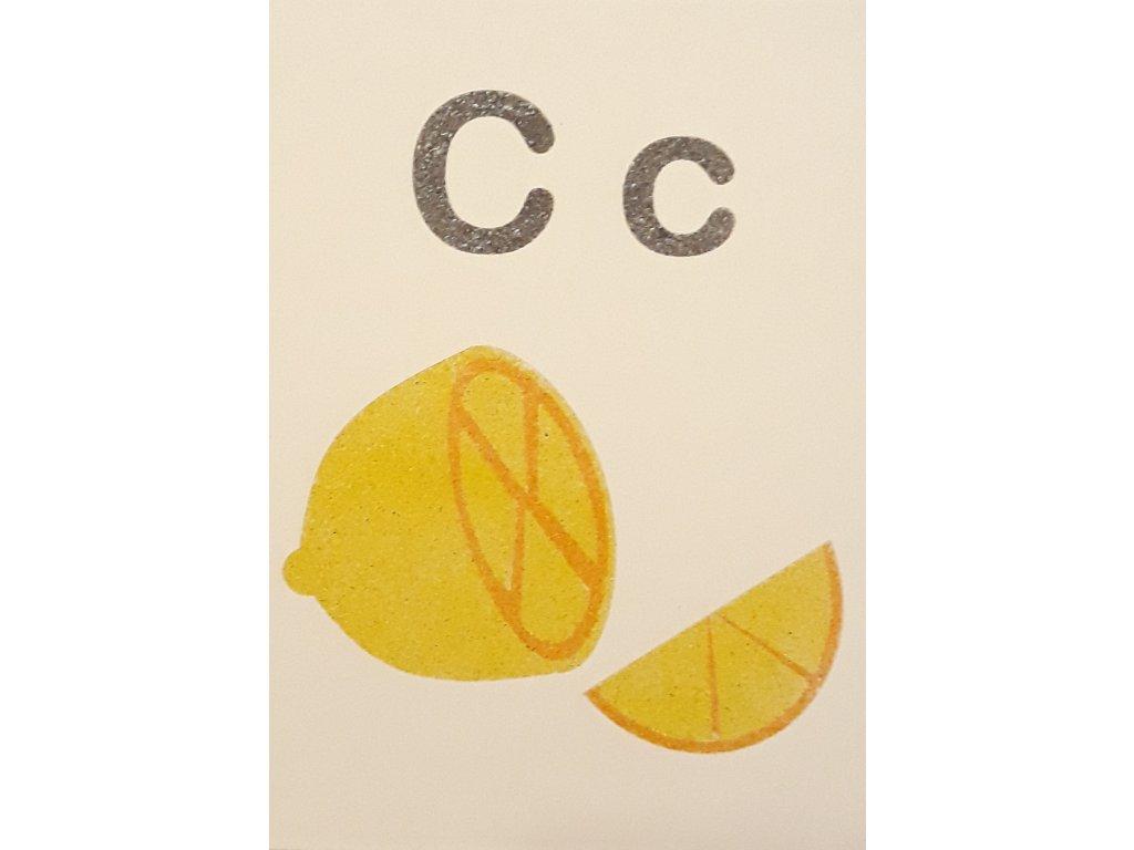 Šablona na pískování písmenko C - A6