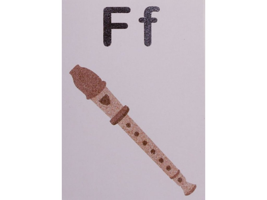 Šablona na pískování písmenko F - A6