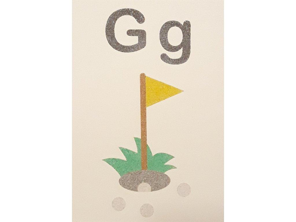 Šablona na pískování písmenko G - A6