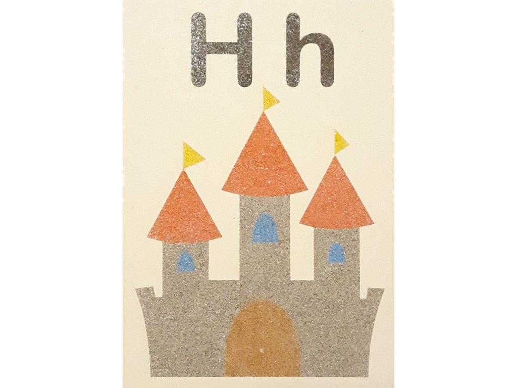 Šablona na pískování písmenko H - A6