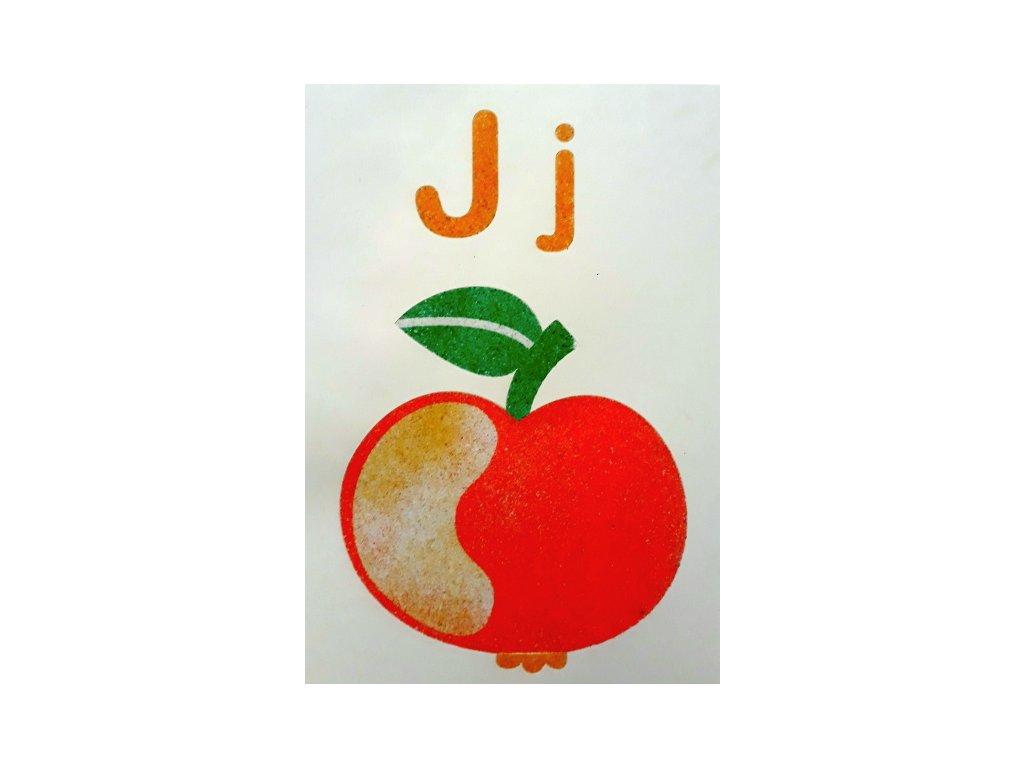Šablona na pískování písmenko J - A6