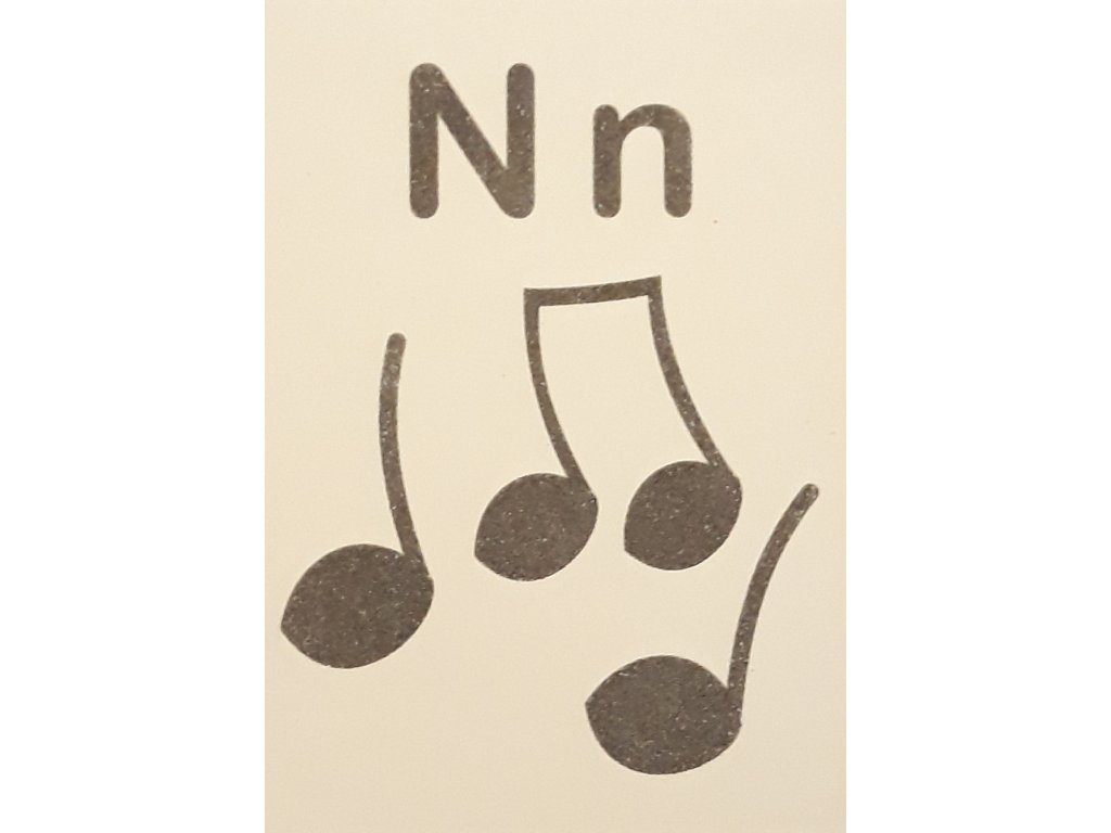Šablona na pískování písmenko N - A6