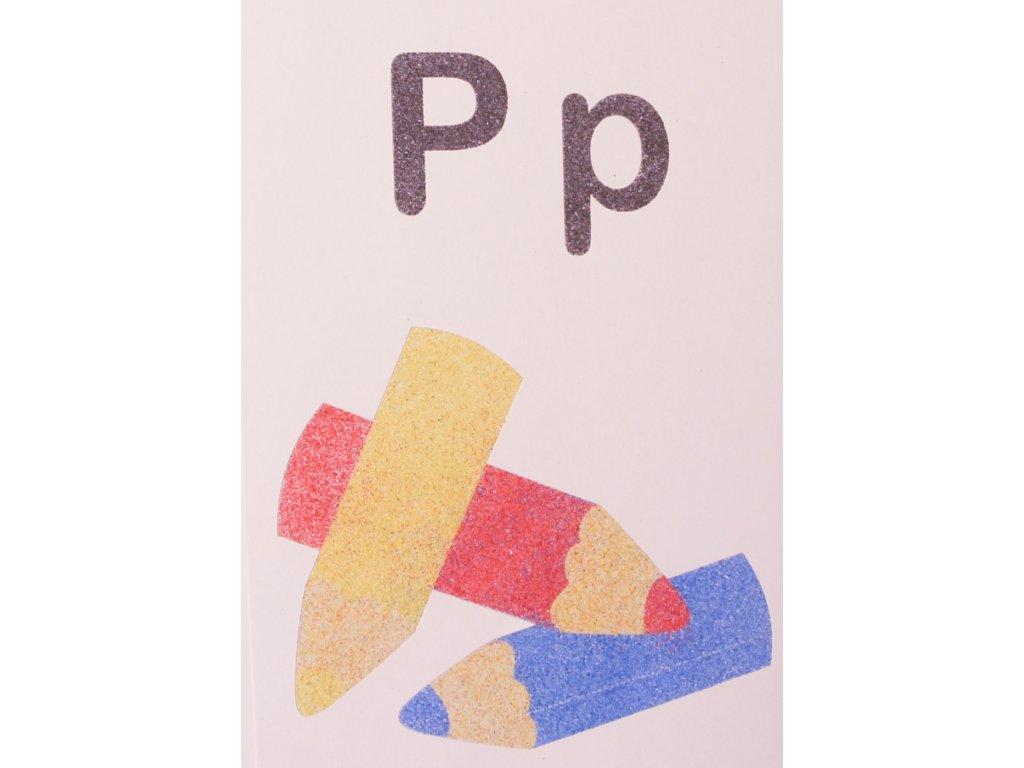 Šablona na pískování písmenko P - A6