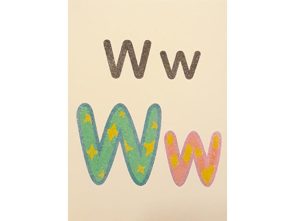 Šablona na pískování písmenko W - A6