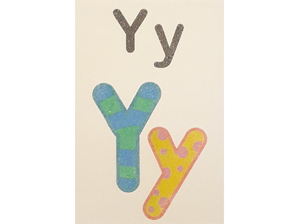 Šablona na pískování písmenko Y - A6