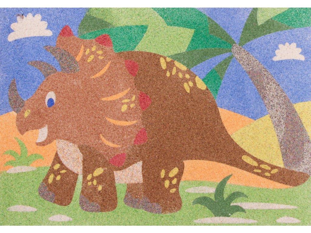 Šablona na pískování triceratops
