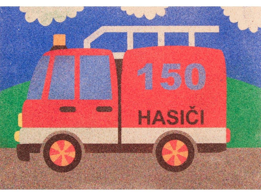 Šablona na pískování hasiči 150