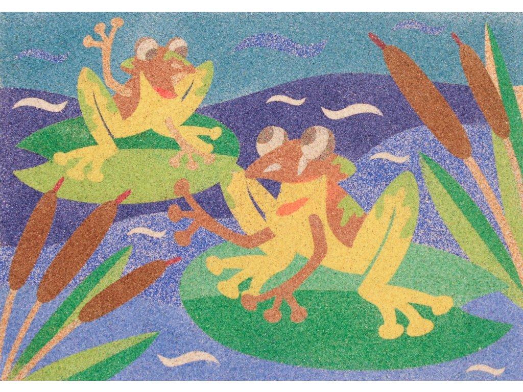 Šablona na pískování žáby kamarádky