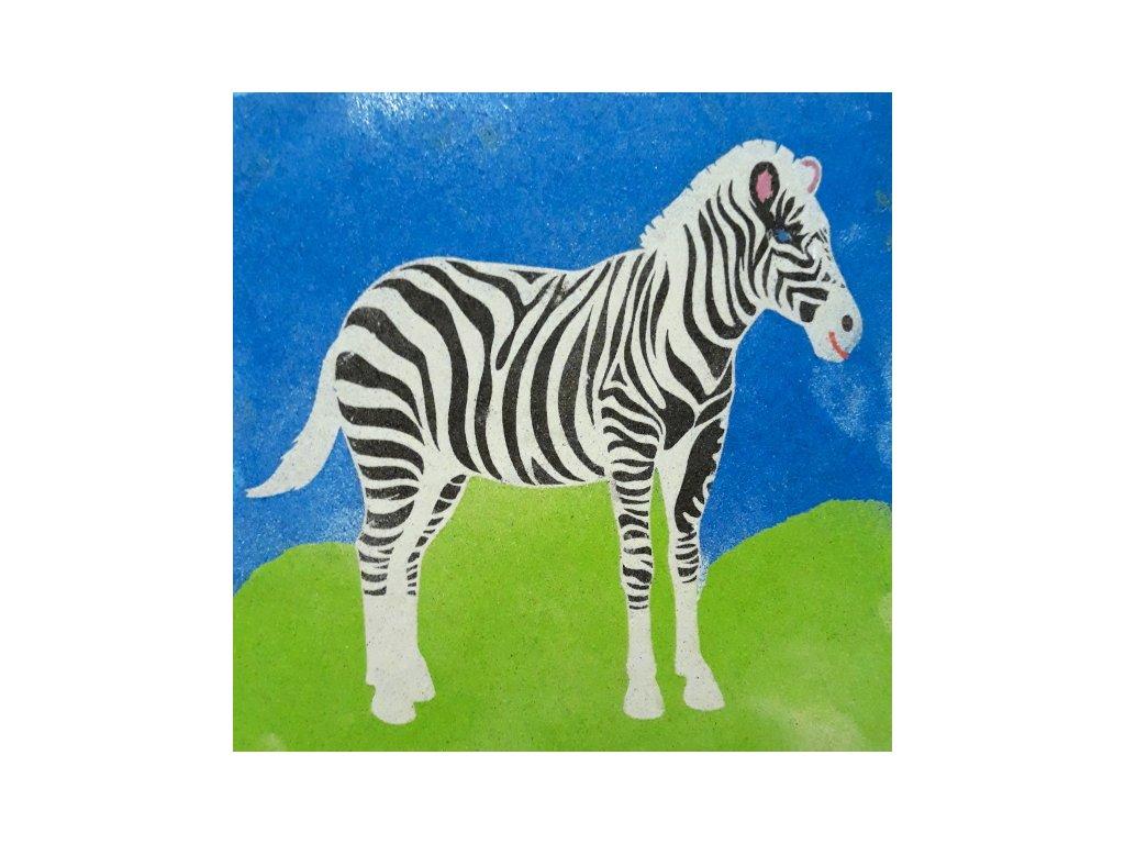 63 1 sablona na piskovani zebra 21x21cm