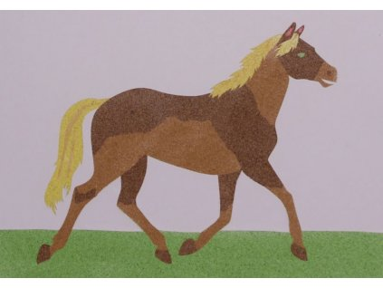 Šablona na pískování kůň (Varianta A2 (420 × 594 mm))