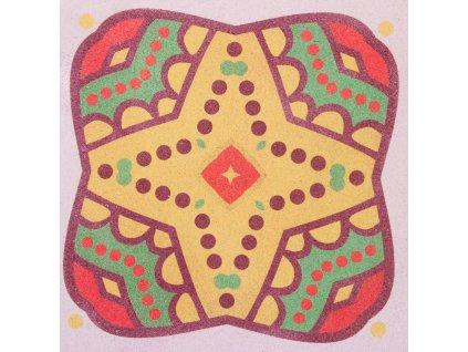 Šablona na pískování mandala 10 (Varianta 490 x 490 mm)