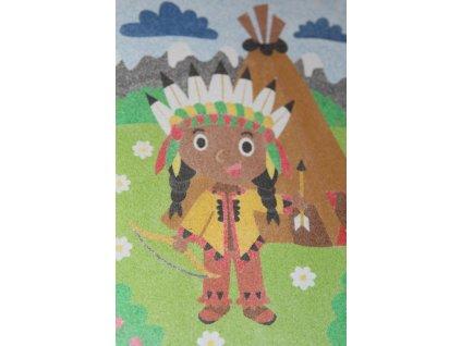 Šablona na pískování indiánek (Varianta A5 (148 x 210 mm))