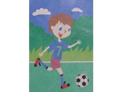 Šablona na pískování fotbalista (Varianta A5 (148 x 210 mm))