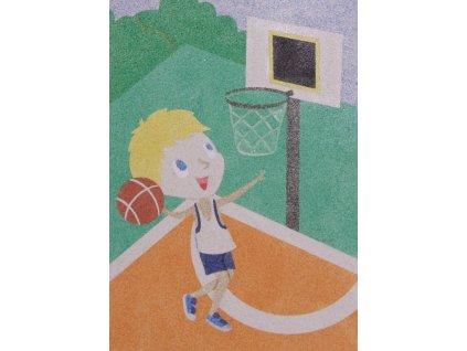 Šablona na pískování basketbalista (Varianta A5 (148 x 210 mm))
