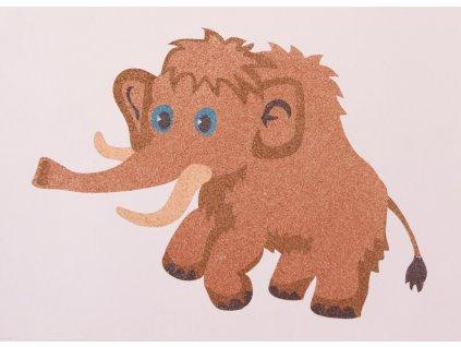 Šablona na pískování mamut