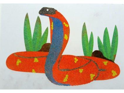 Šablona na pískování kobra