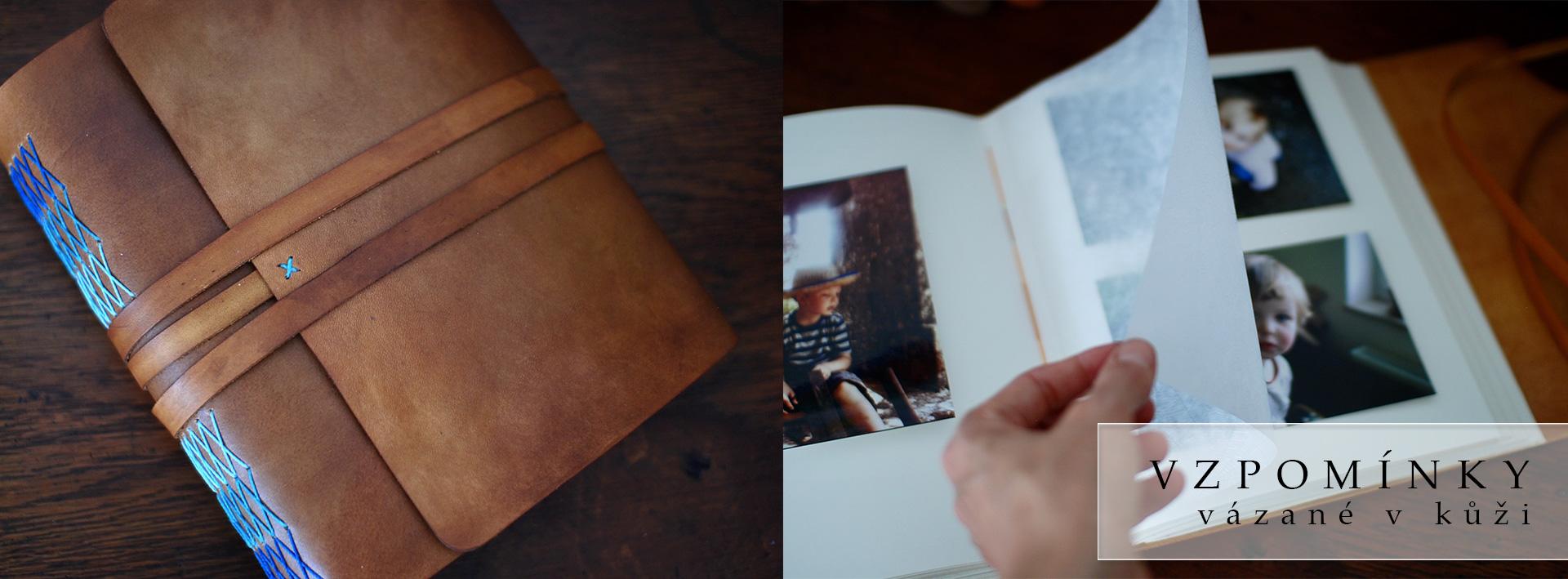 Kožené fotoalbum