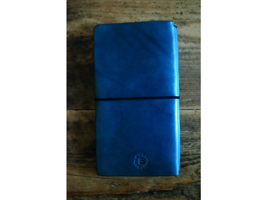 Kožený zápisník Midori - modrý
