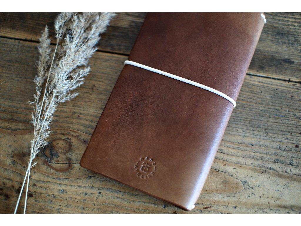 Kožený zápisník Midori - žlutý