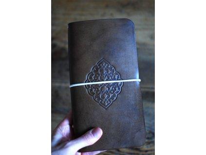 Kožený zápisník Midori světle hnědý