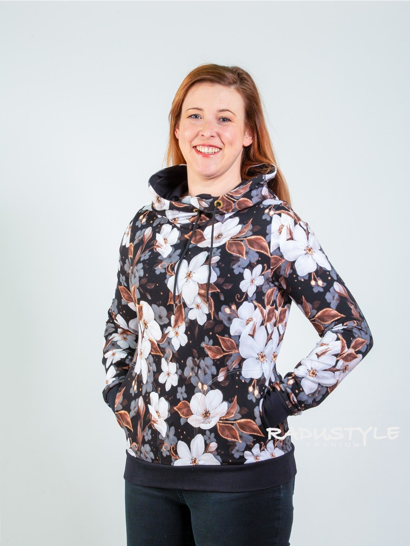 Mikina Květy s kapucou