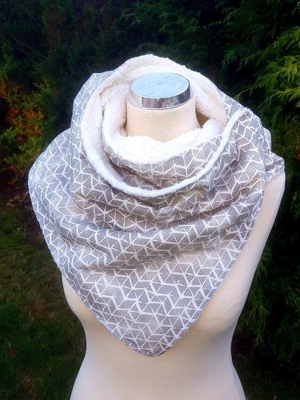 Šedo-bílý šátek