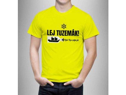 Pánské tričko - Tuzemák - žluté