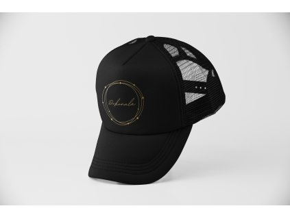 mockup of a trucker hat balancing on its bill 11751 2