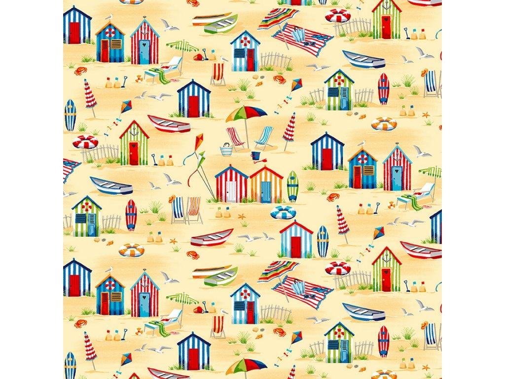 2341 1 beach hut scene