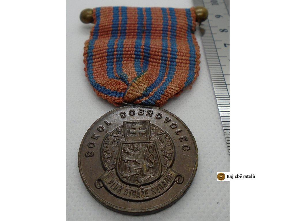 MEDAILE SOKOL DOBROVOLEC II. PLUK STRÁŽE SVOBODY 1918-1948