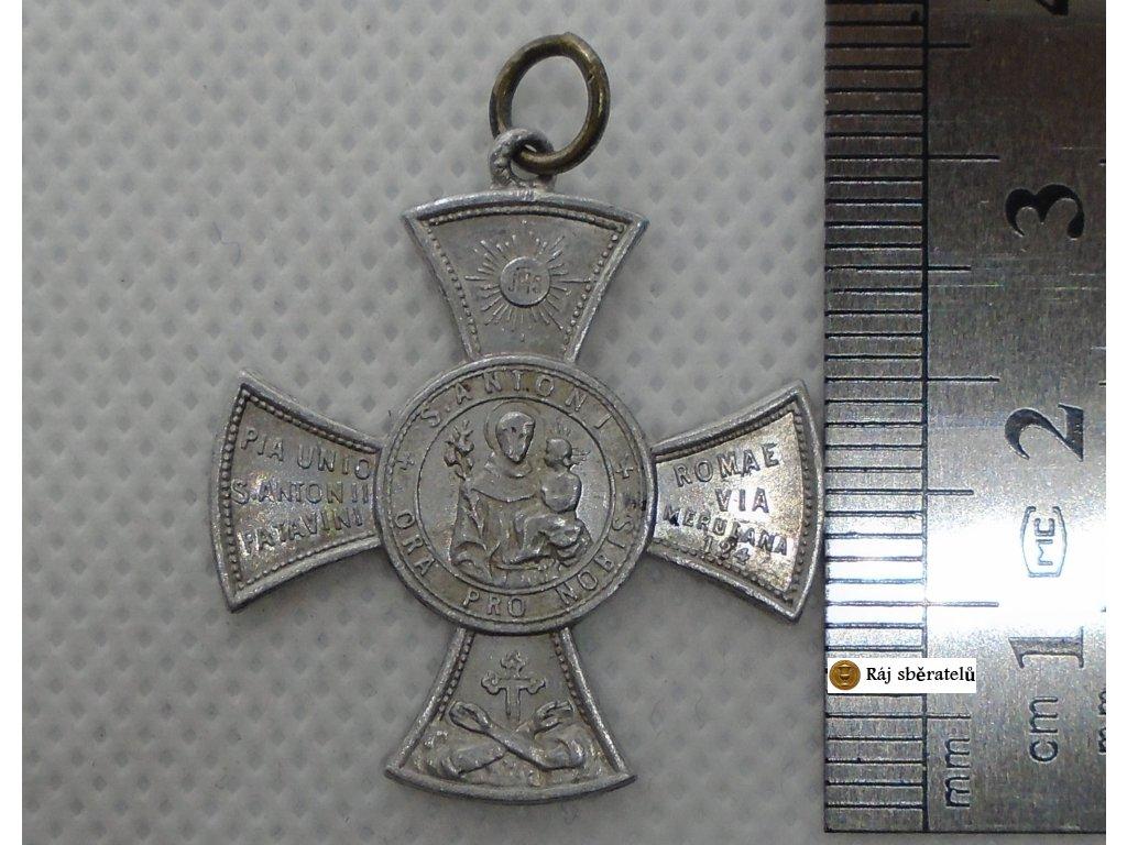 MEDALIK ANTIGUA Y PRECIOSA MEDALLA ORA PRO NOBIS S. ANTONI. SAN ANTONIO 21 MAYO 1892 ECCE CRUCEM DOMINI