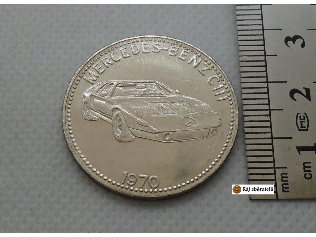 ŽETON MERCEDES BENZ C111 1970