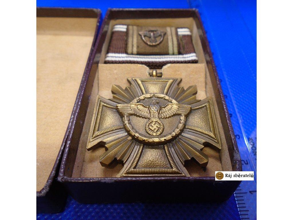 SLUŽEBNÍ VYZNAMENÁNÍ NSDAP, 3. STUPEŇ ZA 10 LET, BRONZ + ETUE + STUHA