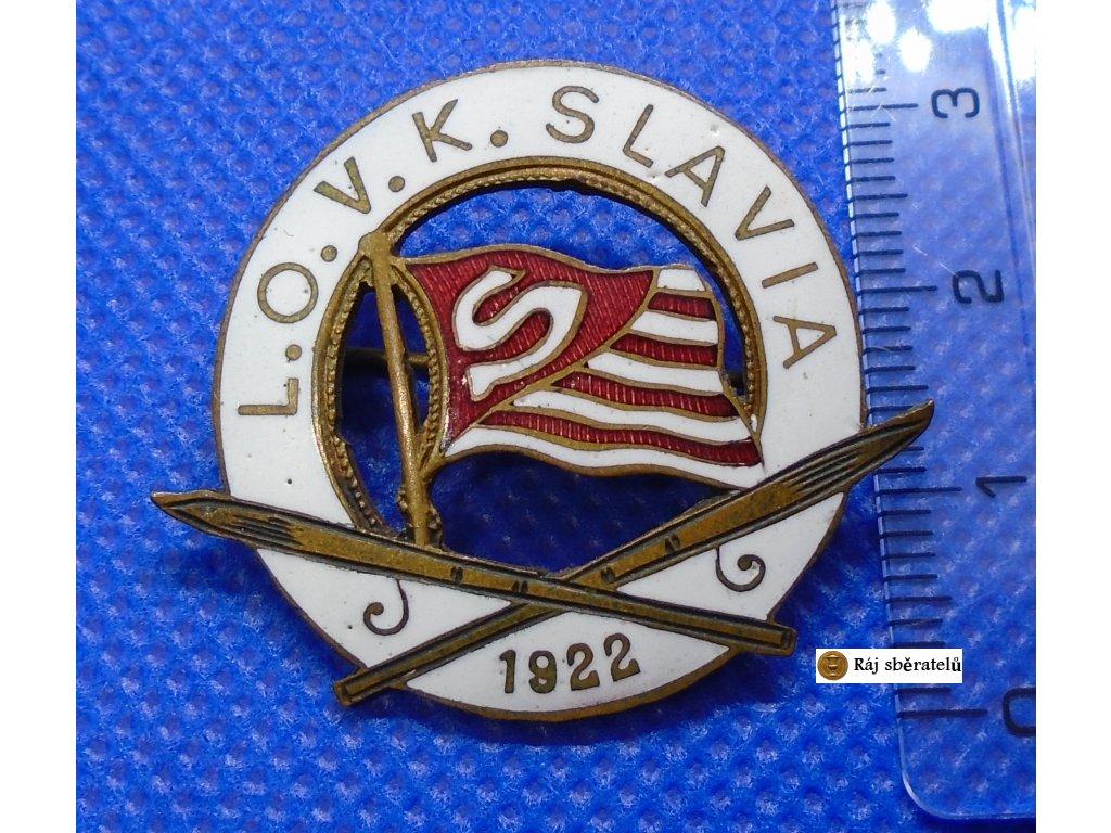 ODZNAK LYŽAŘSKÉHO KLUBU SK SLAVIA PRAHA - LOVK 1922. VELMI VZÁCNÝ - VYROBENO PÁR KUSŮ.
