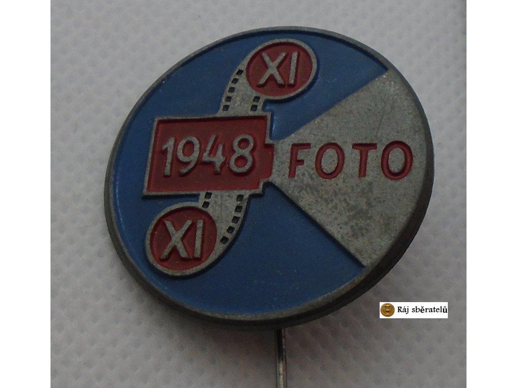 ODZNAK XI. VŠESOKOLSKÝ SLET V PRAZE 1948 - PRO FOTOGRAFY