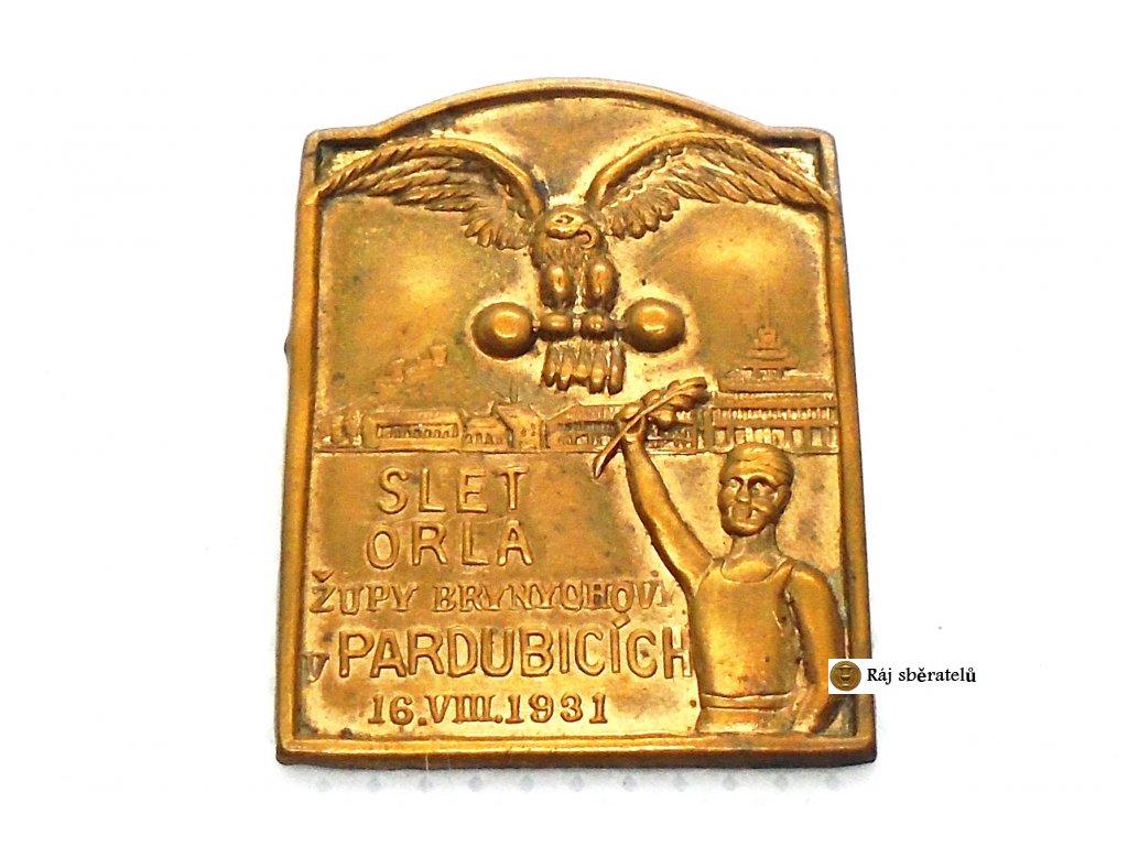 ODZNAK SLET ORLA ŽUPY BRYNYCHOVY V PARDUBICÍCH 1931