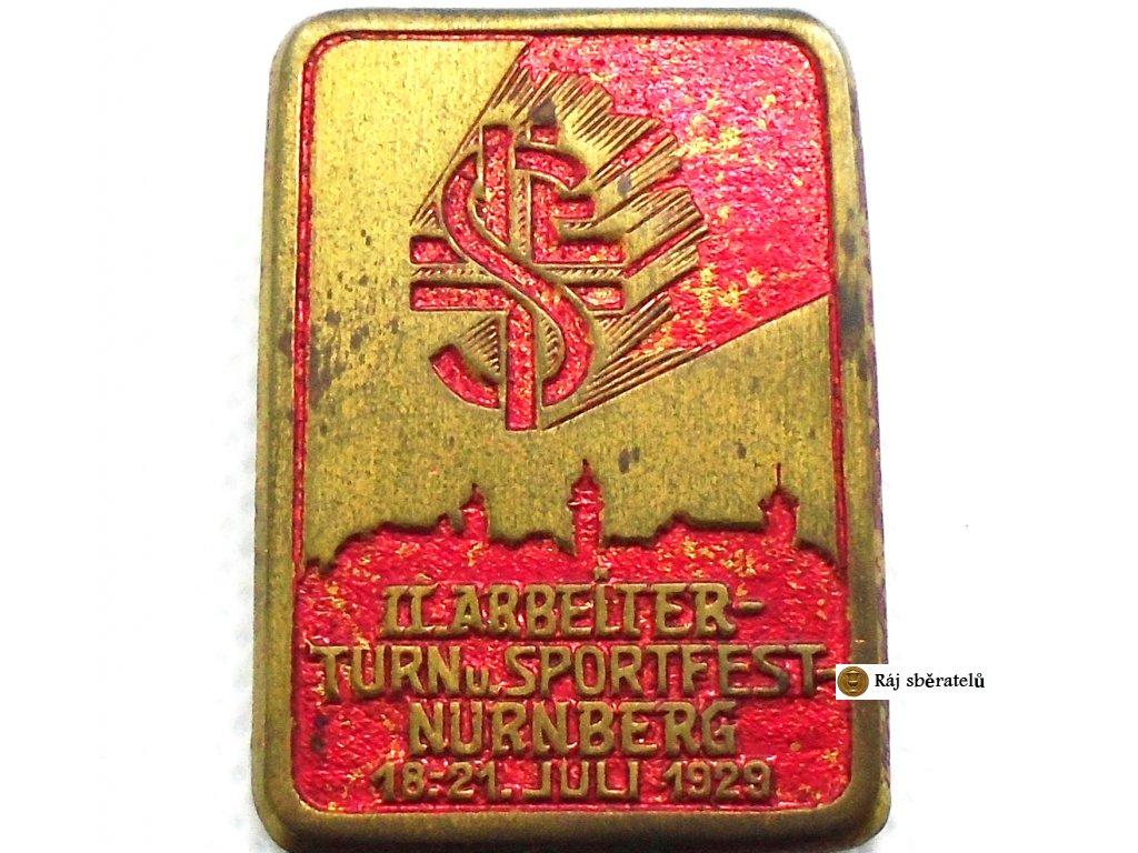 ODZNAK II. ARBEITER-TURN UND SPORTFEST NURNBERG 1929