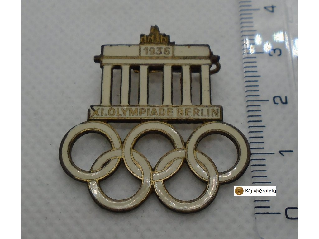 ODZNAK XI. OLYMPIADE BERLIN 1936