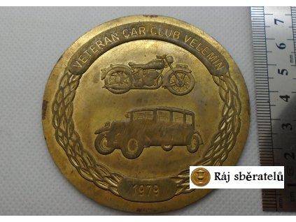 PLAKETA VETERAN CAR CLUB VELEMÍN 1979