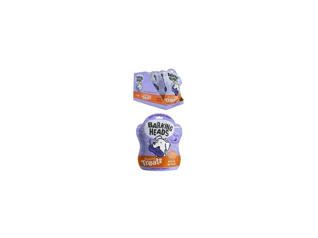 BARKING HEADS Baked Treats Nitie Nites 100g