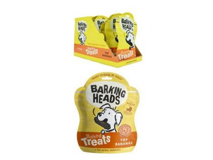 BARKING HEADS Baked Treats Top Bananas 100g