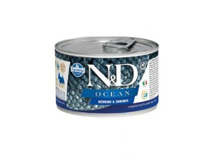 N&D DOG OCEAN Adult Herring & Shrimps Mini 140g
