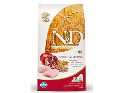 N&D LG DOG Puppy Starter Chicken & Pomegranate 800g