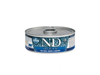 N&D CAT OCEAN Adult Tuna & Squid & Shrimps 80g