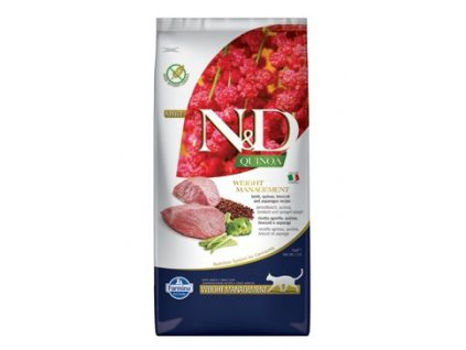 N&D Quinoa CAT Weight Mngmt Lamb & Broccoli 5kg
