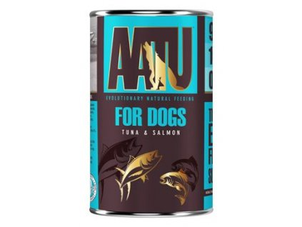 AATU Dog Tuna n Salmon konzerva 400g