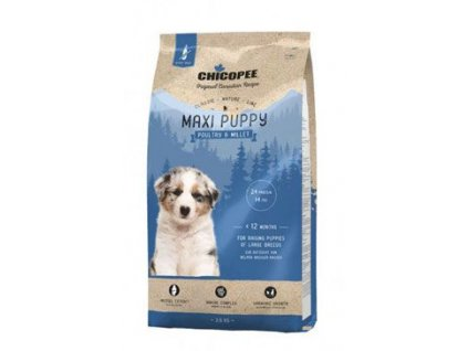 Chicopee Classic Nature Maxi Puppy Poultry-Millet