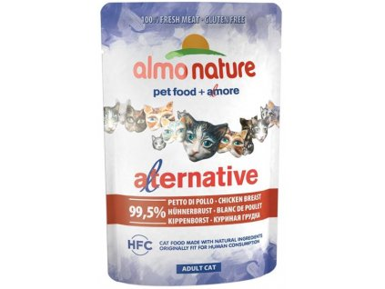 Almo Nature Alternative cat kapsička kuře 55g