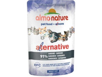 Almo Nature Alternative cat kapsička sardinky 55g