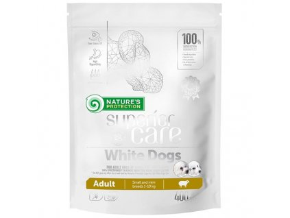 Nature's Protection Dog Dry Superior Adult SB White 400 g